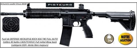 Fusil Défense HK 416 T4E FULL AUTO Calibre  43  Balles caoutchouc-Ref 38963