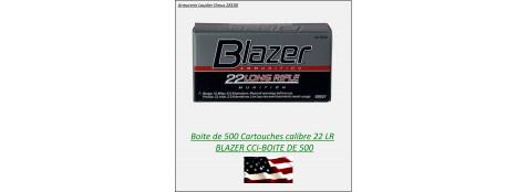 Cartouches- CCI-BLAZER- plomb- Cal 22 Lr -Bte de 500- Promotion-Ref 3915