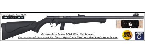 Carabine Rossi 8122 Calibre 22Lr Répétition 10 coups filetée-Promotion-Ref 39797