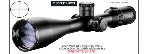 Lunette Hawke Optics Sidewinder 30-IRSF 8x32x56 Réticules 20X 1/2 mildot lumineux -rouge ou vert-Promotion-Ref 39905