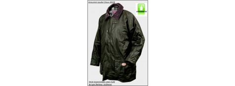 Veste Field-Coton huilé-Imperméable-de type Barbour-Coloris vert foncé-Tailles S-L-XXL-XXXL-Promotion-