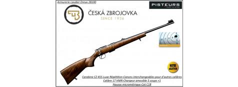 """CZ-455-Luxe-Cal-17HMR-Répétition -""""Promotion""""-Ref CZ 455 luxe-772396"""