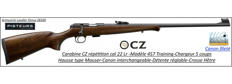 Carabine CZ Mod 457 training Calibre 22 LR Répétition -Promotion-Ref CZ 457 training-781397