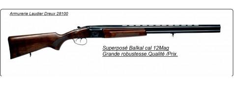 Superposé Baïkal-Calibre 12 magnum-Extracteur-Double détentes-Mobilchokes interchangeables-Ref 13644NE