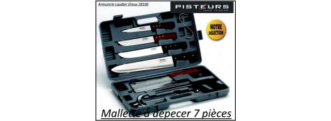 Mallette  couteaux à dépecer en Kit complète 7 pièces-Promotion-Ref 14358-600002