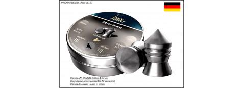 Plombs-HN-LOURDS- Cal 4.5m/m- Poids 0.75 grammes-Têtes pointues-Pour armes à air comprimé -Bte de 500-Ref 7280