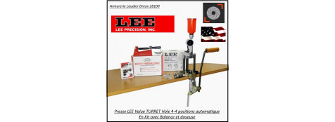 Presse-Lee-value-4-hole-Turret-press-KIT-tourelle-rechargement-avec-balance-et- doseuse -Promotion-Ref L90928-tec