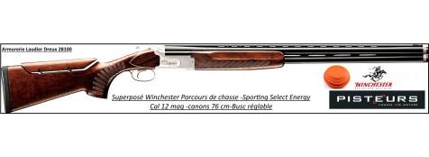 Superposé Winchester  SELECT ENERGY Sporting Parcours chasse Crosse busc réglable Calibre 12/76 Canons 76cm- Ref 9031