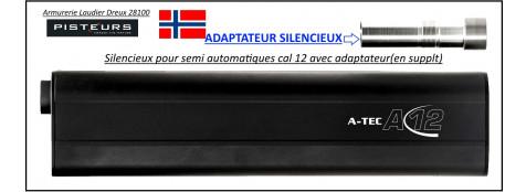 Adaptateur Silencieux Calibre 12 A TEC 12-Beretta Ancien modèle ou Franchi-semi-auto-Ref -adaptateur-A-TEC12-Beretta-semi-auto-36838