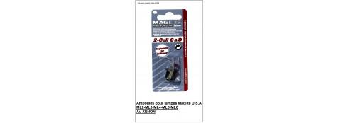 Ampoules Maglite Xenon  pour .ML 2-ML 3-ML4-ML5-ML6