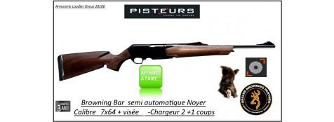 Carabine BROWNING BAR LIGHT semi automatique  3 coups Calibre 7x64- IWA- Standard Plus-DESTOCKAGE-Ref 9060