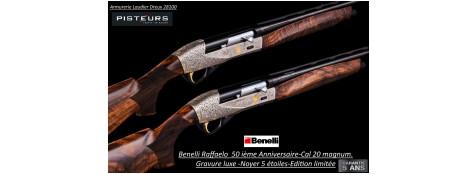 Fusil Benelli Raffaelo 50 ième anniversaire-Edition limitée-semi automatique Calibre 20 magnum  -Canon 71 cm- ref 50 ieme anniversaire