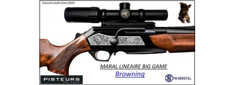Browning-Maral-Big-Game-SF-HC-Canon-fluté-Linéaire-répétition-Cal 30-06-Plaquettes-gravées-Noyer-grade-4-Promotion-Ref 30340