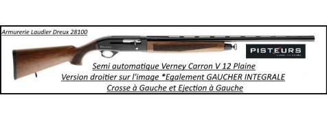 Fusil verney Carron semi automatique  V12N plaine calibre 12 mag canon 71 cm noyer GAUCHER intégrale-ref 35411