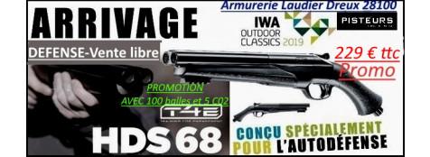FUSIL DEFENSE TEASER Umarex T4E HDS Cal 68 AVEC 100  balles-Caoutchouc et 5 C02-16 joules-C02-VENTE LIBRE-Promo 229.00 ttc-Ref 39694