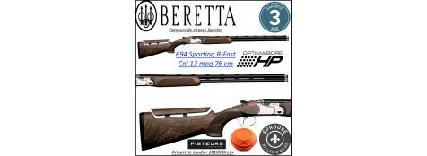 Superposé Beretta 694 sporting B Fast Calibre 12mag Canons 76 cm-Parcours de chasse-Promotion-Ref beretta-694-bfast-sporting
