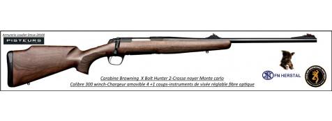 Browning X BOLT Hunter 2 Calibre 300 winch mag Crosse noyer monte carlo  + instruments de visée- Promotion -Ref 37954