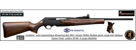 Browning BAR MK3 Reflex Hunter Calibre 30- 06 Semi automatique noyer grade2  pack point rouge  KITE Promotion-Ref 031876926