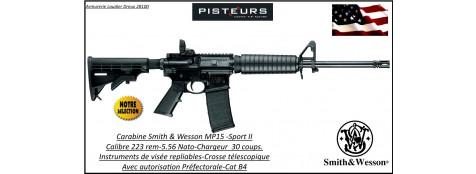 Carabine-SMITH et WESSON-MP15-sport-II-Semi-automatique-U.S.A-Calibre 5.56 -223 Rem-Catégorie B4-Ref 777646-Autorisation Préfecture
