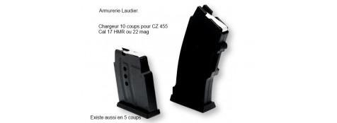 Chargeur supplémentaire pour carabine CZ .Mod 455 .Cal 17 HMR,ou  22 mag en 9 coups-synthétique-Ref 771330