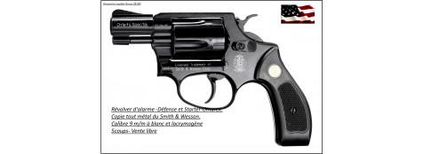 Révolver-Smith & Wesson-Chiefs Spécial- Umarex-Cal. 9 mm -Alarme-defense-ou -Starter - A blanc ou gaz lacrymogène-Ref 17280