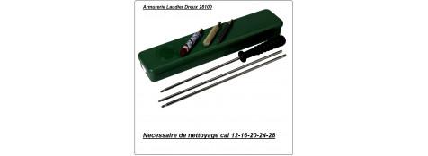 Nécessaires de nettoyage- Baguette métal- Cal 9mm- 12mm- 14mm- 24 -ou 28
