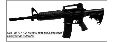 """Fusil d'assaut électrique -COLT M4 A1- 6mm.Cybergun-""""PROMOTION"""".Ref 15202"""