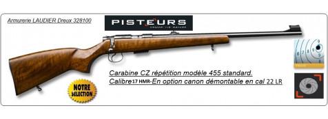"""Carabine-CZ-Mod 455-Standard-Cal 17-HMR-Répétition -""""Promotion""""-Ref 773491"""