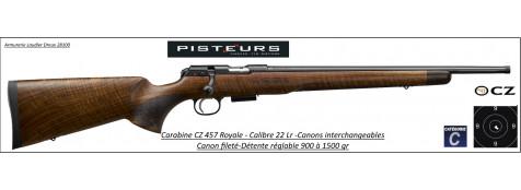 Carabine CZ Mod 457 Royal Calibre 22 LR Répétition -Promotion-Ref CZ 457 Royal-781395