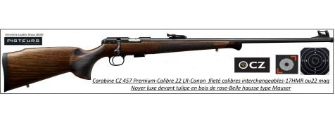 Carabine CZ Mod 457 premium Calibre 22 LR Répétition -Promotion-Ref CZ 457 premium-781393
