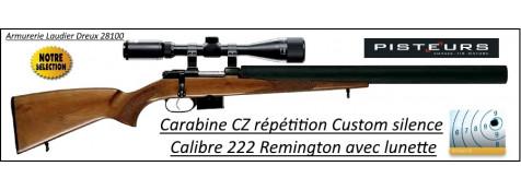 Carabine CZ 527 CUSTOM SILENCE CaIibre 222 Rem  AVEC LUNETTE ET MALLETTE Chargeur 5 coups -Promotion-Ref CZ-765852