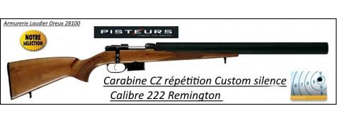 Carabine CZ 527 CUSTOM SILENCE CaIibre 222 Rem Chargeur 5 coups -Promotion-Ref CZ-765852-B