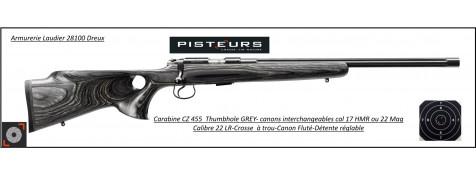 Carabine CZ Mod 455 THUMBOLE  GREY Calibre 22 Lr Répétition -Promotion-Ref CZ 455  thumbole- R776241
