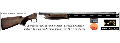 Superposé Fair Sporting Master Calibre 12 mag Canons 76 cm-Promotion-Ref DC450