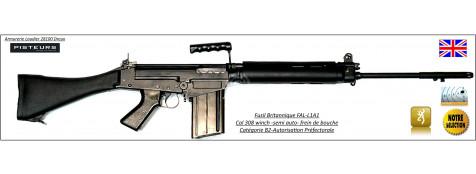 Carabine-FAL-L1-A1-Semi-automatique Britannique-Calibre  308 Winch-Catégorie-B2 E-Ref 29424