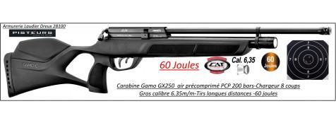 Carabine air Précomprimé PCP Gamo GX250  Calibre 6.35m/m Puissance 60  joules-Grande puissance-Promotion-Ref PCP-G1633
