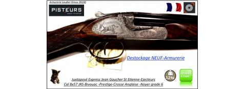 Juxtaposé-Express-Jean-Gaucher-Artisan-St Etienne-Cal-8x57Jrs-Contre-platines-Ejecteurs-Double détentes-DESTOCKAGE-NEUF-Armurerie-Ref express-Jean Gaucher