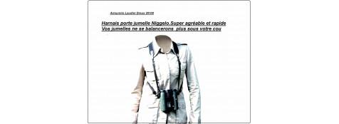 """Harnais pour jumelles binoculaires """"NIGGELO""""."""