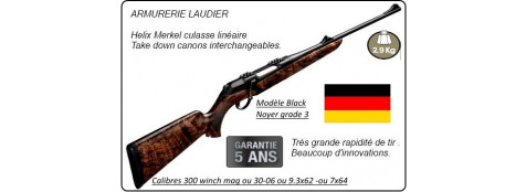 """Carabine-Merkel-RX-Helix-Black-Bois grade 3-Répétition linéaire-Cal 300 winch mag - ou 30-06- ou 9.3x62 - ou 7x64-""""Promotions"""""""