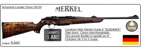 """Carabine-Merkel RX-Helix-Elégance-Répétition-Linéaire-Cal 9.3 x 62- Grade 5-""""Promotion""""-Ref 27855"""