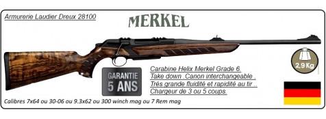 """Carabine-Merkel-RX-Helix-Black-Répétition-Linéaire-Bois grade 6-Calibres 7 x 64 ou 30-06 ou 9.3 x 62 ou 7 Rem mag ou 300 Winch mag-""""Promotion"""""""