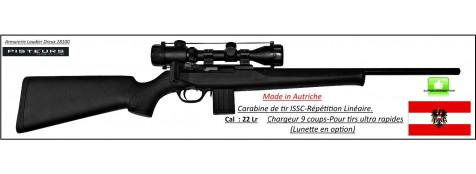 Carabine ISSC Calibre 22 Lr SPA Standard Black Autriche Répétition Linéaire Canon fileté-Promotion-Ref issc-22-27074