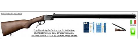 Carabines-Jardin-Silencieux-intégrés-Calibres-12m/m-410-ou -14 m/m-Petits nuisibles-Ref JC505S-JC510S
