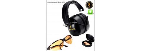 Casque-Browning- Protection-avec kit lunette- et bouchon d'oreilles-Ref 17336