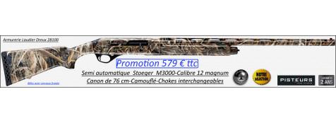 Fusil Stoeger M 3000 Camo Max 5 Calibre 12 magnum 76 cm semi automatique 3 coups -Promotion-Ref 31301852