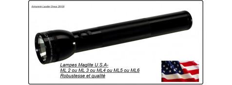 Lampes Maglite U.S.A- ML2-ou ML 3-ou ML4- ou ML5- ou ML6