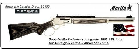 Carabine MARLIN 1895 SBL  Inox U.S.A  Calibre 45/70 Governement-Promotion-Ref 16960- inox-22847