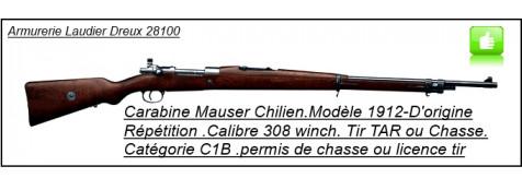 Fusil Mauser Chilien -modèle 1912--D'époque- répétition  -Calibre 308 winch -Ref 21077