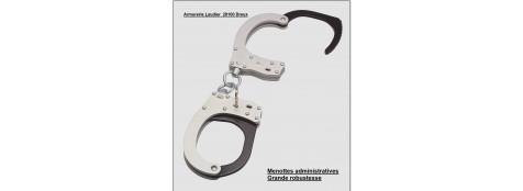 Menottes GK type administrative à chaînes en aluminium et acier.Ref 16370