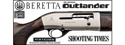 Fusil Beretta A 300 Outlander Silver Calibre 12 magnum semi automatique 3 coups Crosse  noyer-3 Mobilchokes-Canon 76 cm-Promotion-Ref 31300196